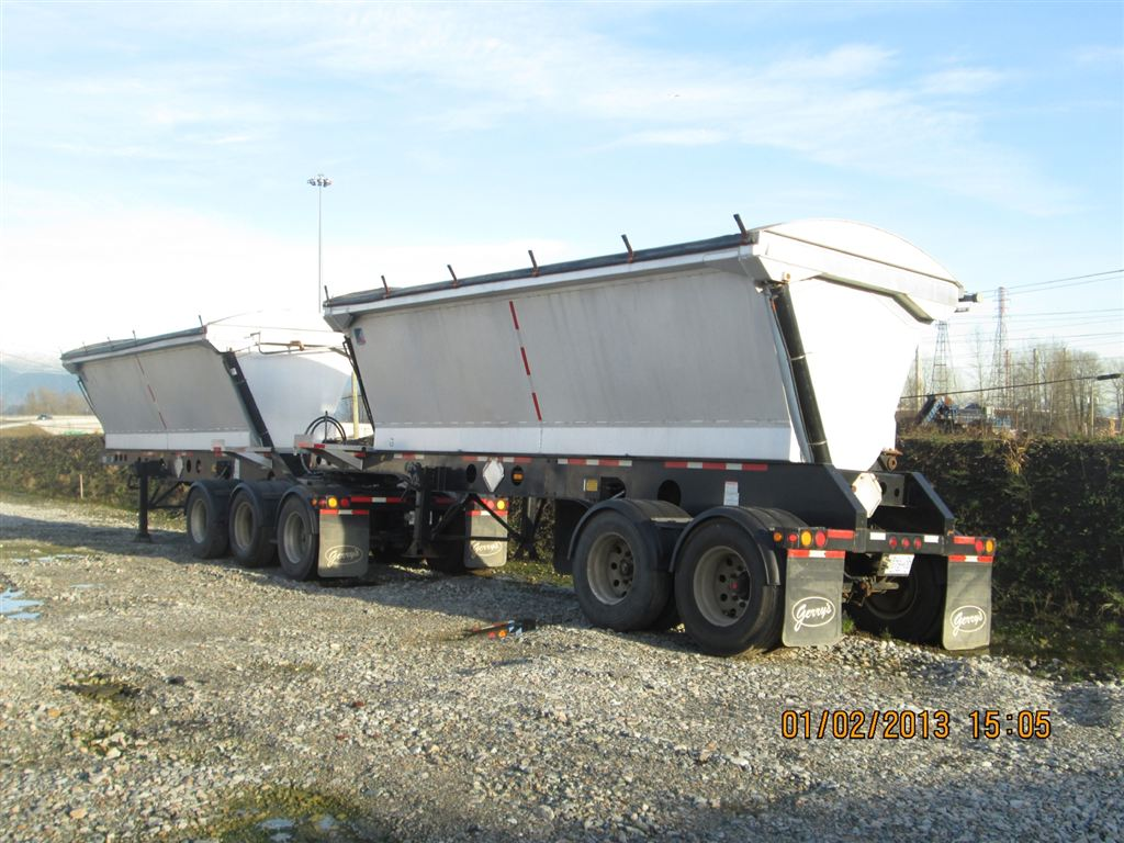 Wh moreover How To Know Which Dump Trailer Option Will Deliver The Most Work likewise 2009 Gerrys Aluminum Super B Side Dump Trains moreover Used 2015 Midland Mg17sk3100 17 Ft Tridem Pup End Dump Trailer furthermore Dump truck. on end dump trailers pup